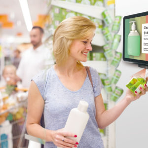 PoE digital signage in retail