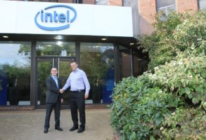 From left to right: Mike Fay, Sales Manager UK Advantech and and Rod O'Shea, Intel EMEA IOT Sales Director